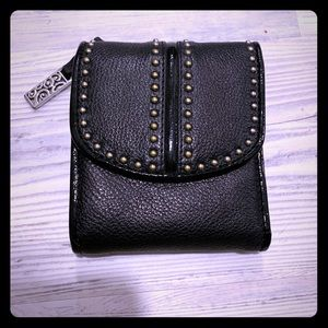 Black leather Brighton wallet